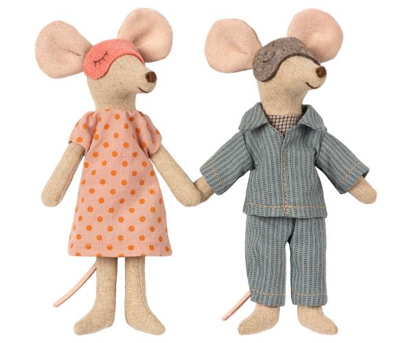 """Maileg """"Mum&Dad Mice in Cigarbox"""""""