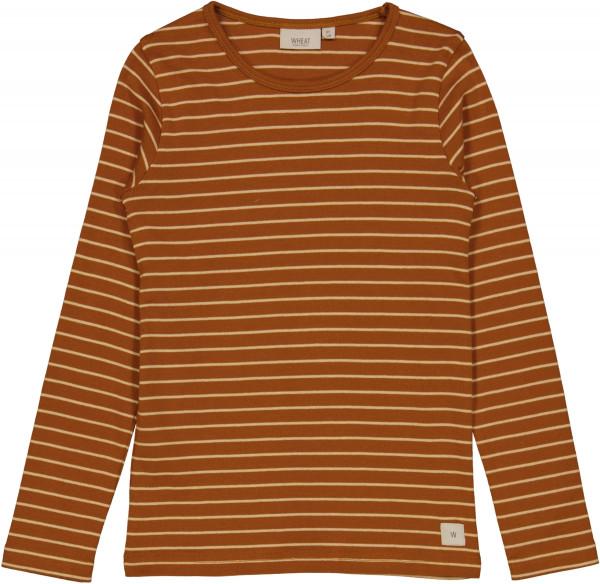 WHEAT, Striped LS T-Shirt, Cinnamon, (98-152)