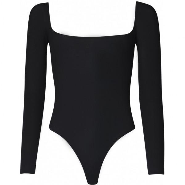OW Intimates, BLANCHE Bodysuit, Black Caviar, XS