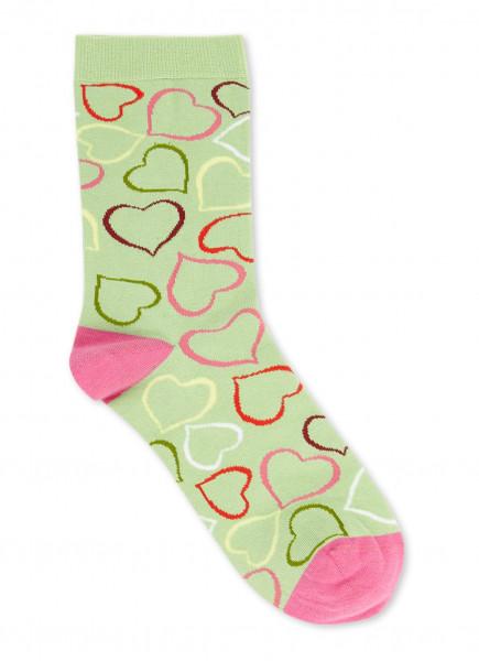 """Stine Goya """"Iggy Socks"""" Heart Green"""