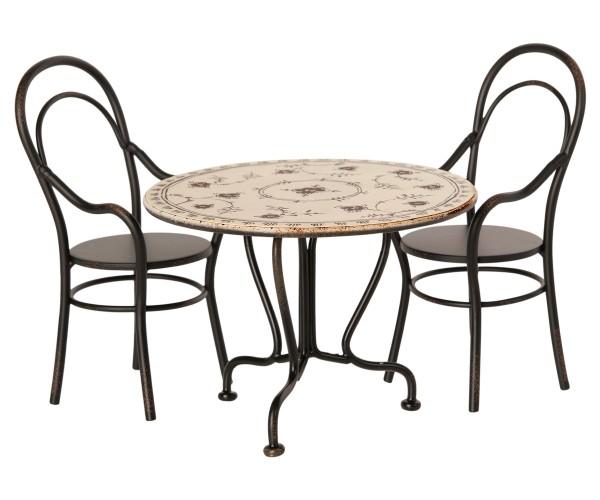 Maileg, Esstisch Set mit 2 Stühlen