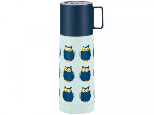 "BLA FRE ""Stainless Steel, Vacuum Flask"" Owl, Blue, 350ml"