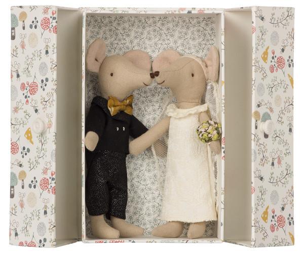 Maileg, Wedding Mice, Couple in Box