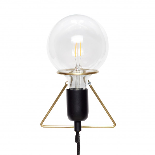 Hübsch, Wandlampe m Birne, Messing