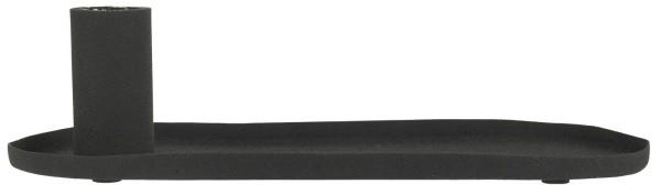 Ib Laursen, Kerzenhalter für Stabkerze oval schwarz