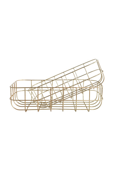House Doctor, Baskets, Simply, Shiny Gold, Set of 2 Sizes