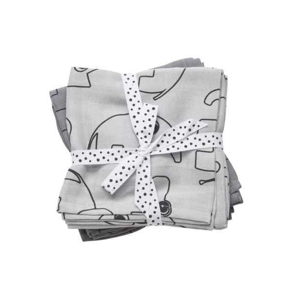 "Done By Deer ""Swaddle, 2-pack"" Contour, grey"
