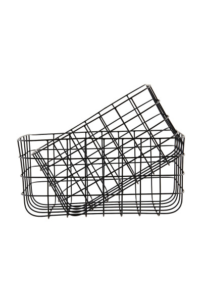 House Doctor, Baskets, Simply, Black, Set of 2 Sizes