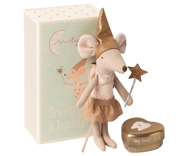 Maileg, Tooth fairy mouse in matchbox, big sister
