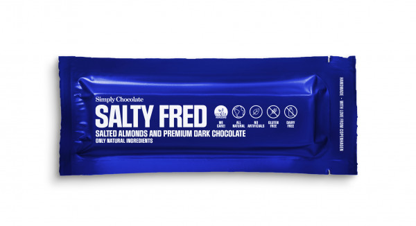 Simply Chocolate, Salty Fred Bar, 40g