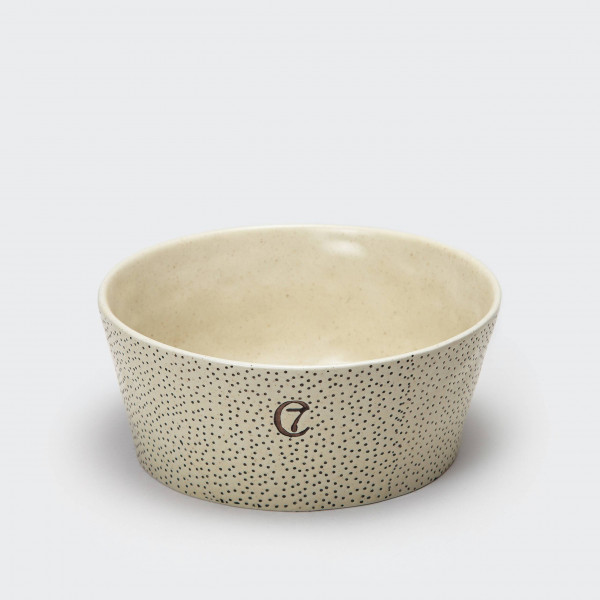 "Cloud7 ""Ceramic Bowl Yoji Dots"" Creme S"