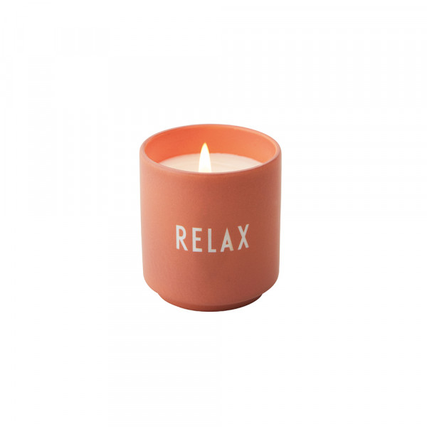 Design Letters, Scented Candle, RELAX, Nude