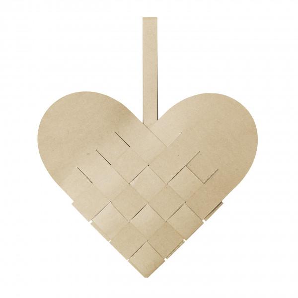 Broste Copenhagen, Deko Heart Papier, Groß, Natural Brown