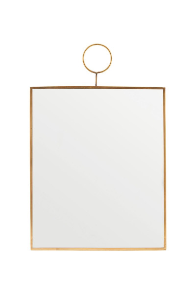 House Doctor - Mirror, Loop, Brass, 25x30cm