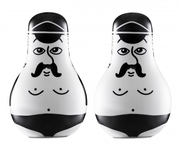 Normann, Friends Salt & Pepper Set Black/White