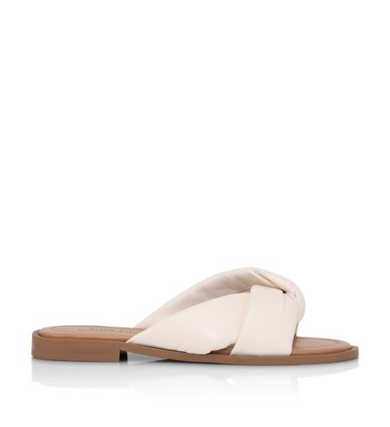 Shoe Biz, Sikita Plain Leather, Cream