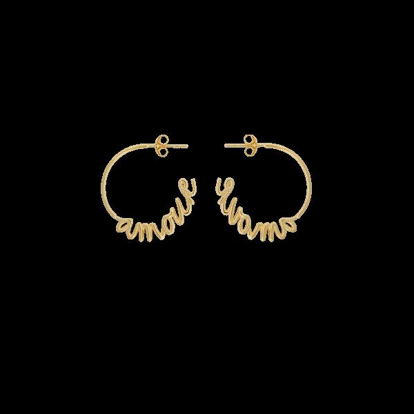 Anna+Nina Amour Hoop Earring, vergoldet