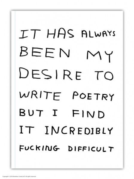 David Shrigley, A5 Write Poetry Notebook