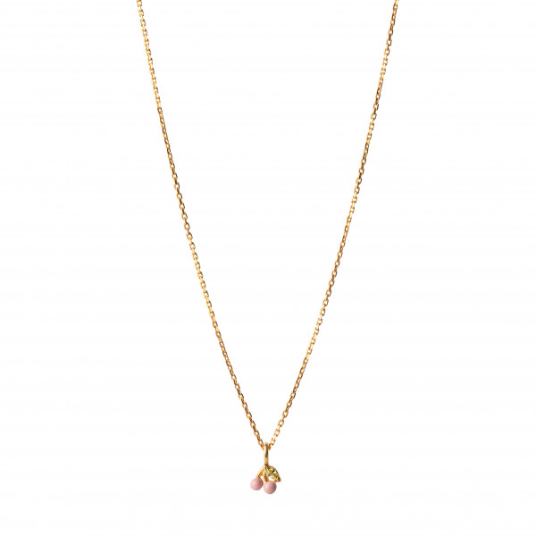 ENAMEL Copenhagen, Necklace, Cherry, 42 + 3 cm, Light Pink