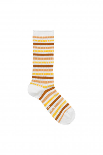 Mads Nørgaard, Viscose Andilla Socks, Brown/Yellow Multi