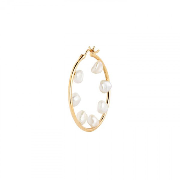 Maria Black, Baroque 35 Hoop, Gold HP