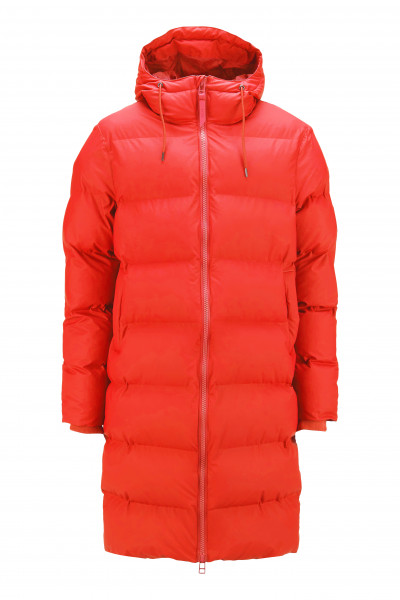 Rains, Long Puffer Jacket, Red
