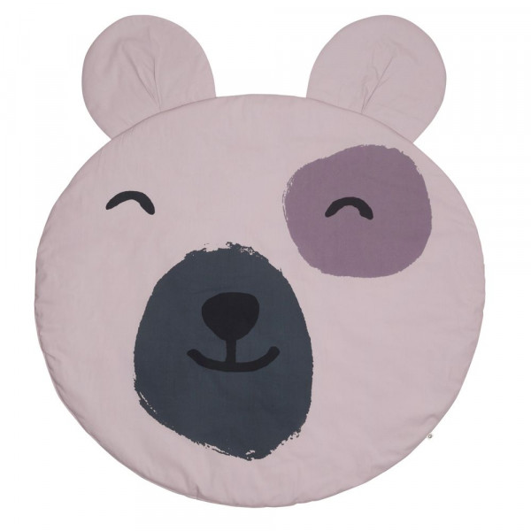 """müsli by green cotton """"Blanket with teddy bear face"""" rose"""