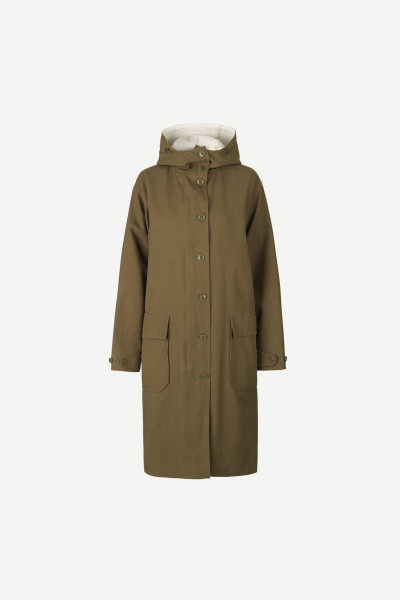 Samsøe&Samsøe, Lucine Parka Coat, Dark Olive