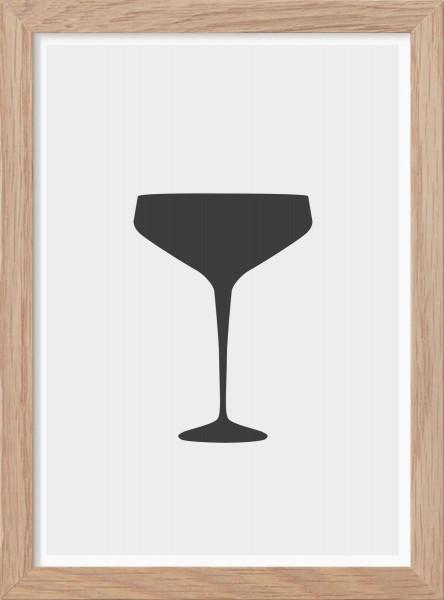 Kunskapstavlan, Poster, Champagnekupa - Mini Print A5
