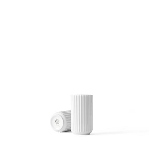 Lyngby, Vase, H12,5, weiß