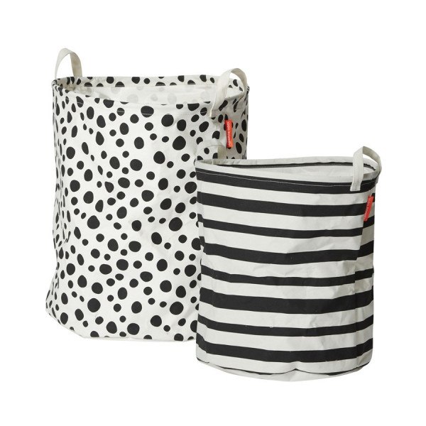 "Done by Deer ""Soft storage basket"" 2 pcs, Black"