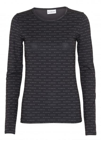 BLANCHE, Comfy Longsleeve T-Shirt Black