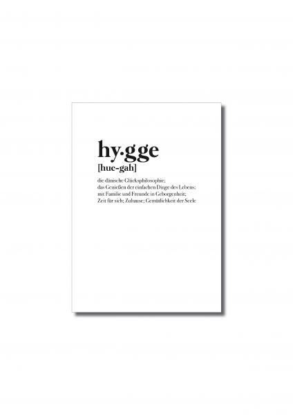 """Hygge"" Postkarte"