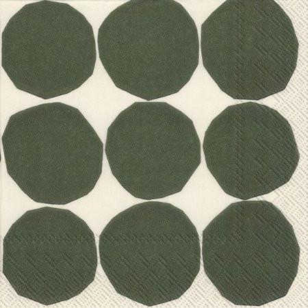Marimekko, Servietten, Kivet, white grün