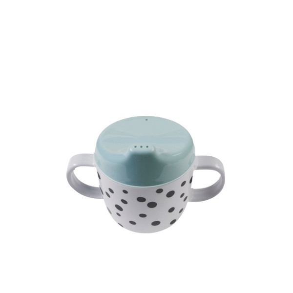 """Done By Deer """"Spout Cup"""" Happy dots, Blue"""