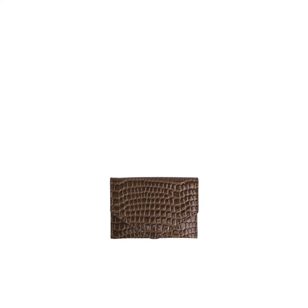 Hvisk, Wallet Croco, Brown