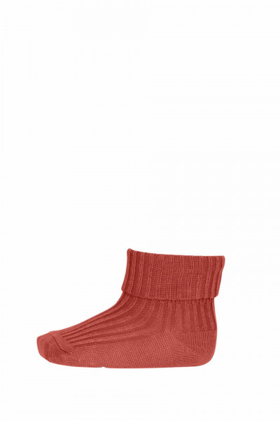 mp, Wool Rib Baby Socks, Canyon Rose